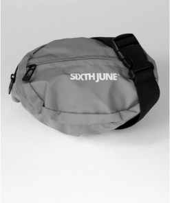 Sixth June Umhängetasche mit reflektierendem Design, grau, GRAU