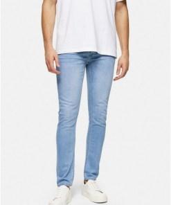 BLAUConsidered Stretch Skinny Jeans in heller Waschung, BLAU
