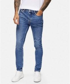 BLAUConsidered Skinny Stretch-Jeans in mittlerer Waschung, BLAU