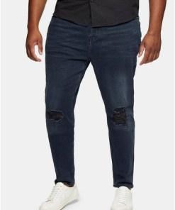 BIG Enge Jeans mit Einrissen, grau und blau, GRAU