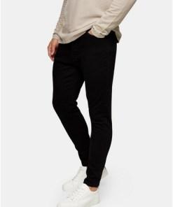 Stay Stretch-Jeans in Karottenpassform, schwarz, SCHWARZ