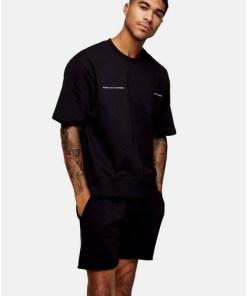 Sweatshirt mit 'Beverly Hills'-Schriftzug, schwarz, SCHWARZ