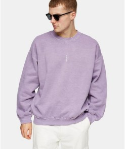 VIOLETTSweatshirt mit vertikalem 'Rome'-Print, flieder, VIOLETT