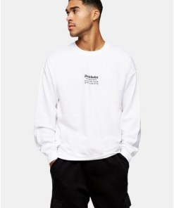 Sweatshirt mit klassischem 'Stockholm'-Print, weiß, WEIß