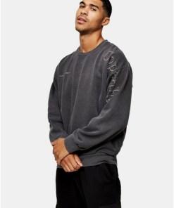 'Copenhagen' Sweatshirt, verwaschenes Schwarz, SCHWARZ