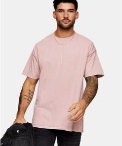 T-Shirt mit vertikalem 'London'-Print, pink, PINK