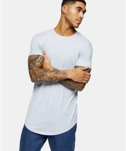 Langes T-Shirt, knallblau, BLAU