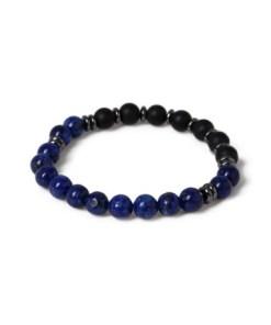 Armband mit Lapis, blau, BLAU