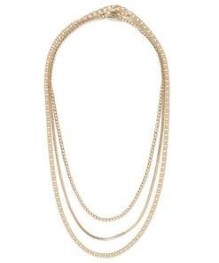 Halskette mit Schlangendesign, gold, GOLD