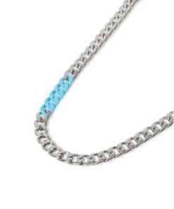 Halskette, pastellblau, BLAU