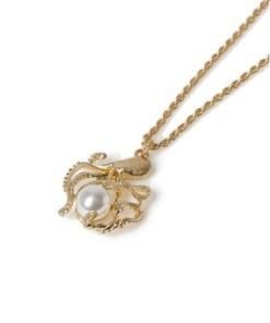 Halskette mit Oktopusanhänger, gold, GOLD