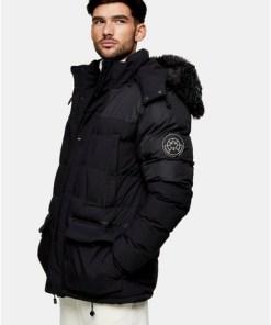 SCHWARZMARTIQUE Black Parka Jacket, SCHWARZ