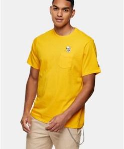 LEVI'S x PEANUTS T-Shirt mit Snoopy-Tasche, gelb, GELB