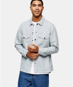 Hemdjacke aus Ripstop, grau, GRAU
