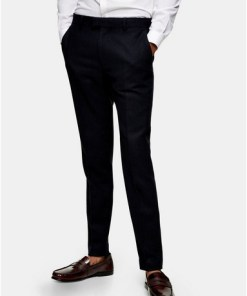 NAVY BLAUNavy Herringbone Skinny Suit Trousers, NAVY BLAU