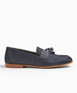 NAVY BLAU'Piper Chambray' Loafer mit Quaste, navyblau, NAVY BLAU