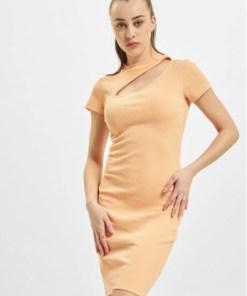 Only Frauen Kleid onlNessa Life Cut-Out Box in orange