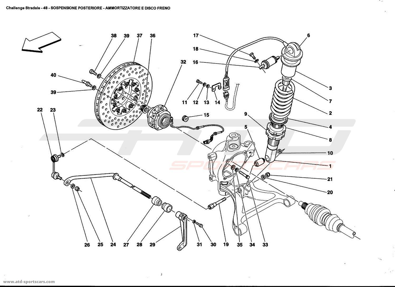 Ferrari 360 Challenge Stradale Rear Suspension