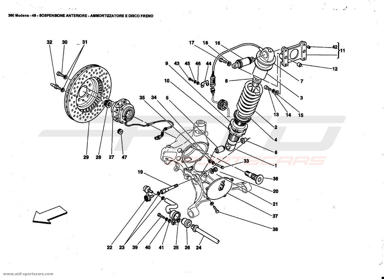 Ferrari 360 Modena Undercarriage Parts At Atd Sportscars