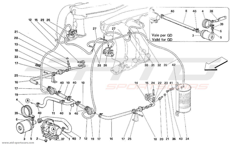 Ferrari 512m Air Intake