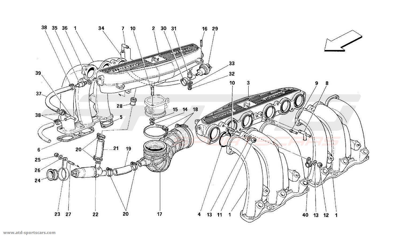 Ferrari 512 Tr Air Intake