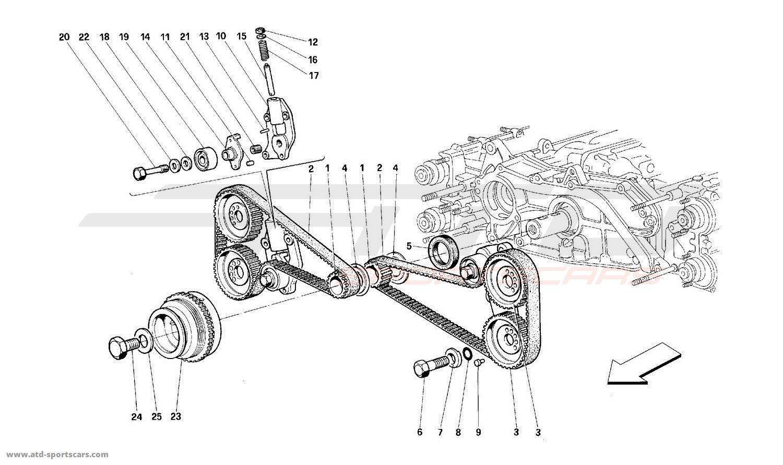 Ferrari 512 Tr Engine Parts At Atd Sportscars