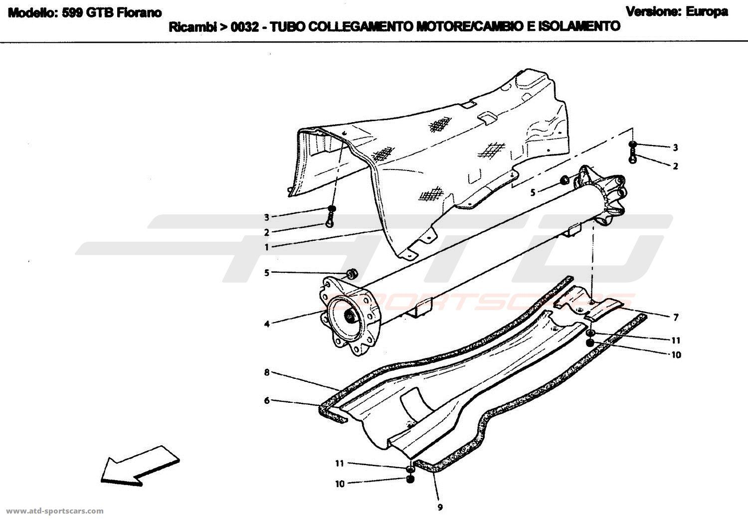 Ferrari 599 Gtbs Engine Gearbox Connecting Tube And