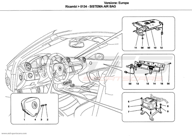 Ferrari California Airbag System Parts At Atd Sportscars