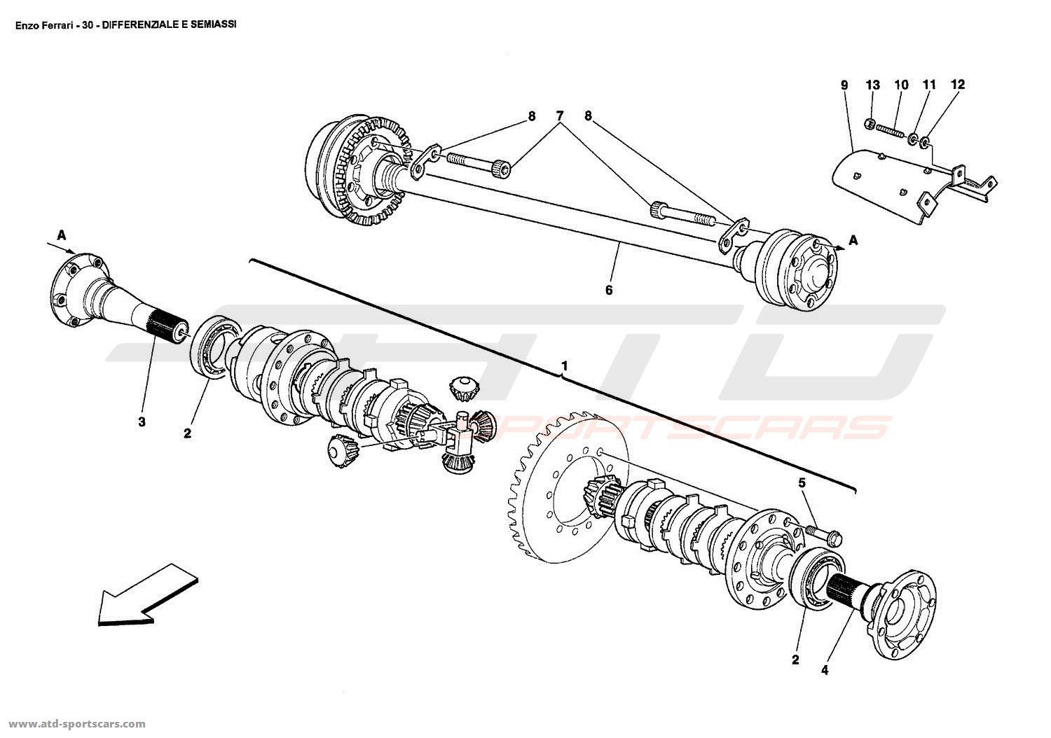 Ferrari Enzo Undercarriage Parts At Atd Sportscars