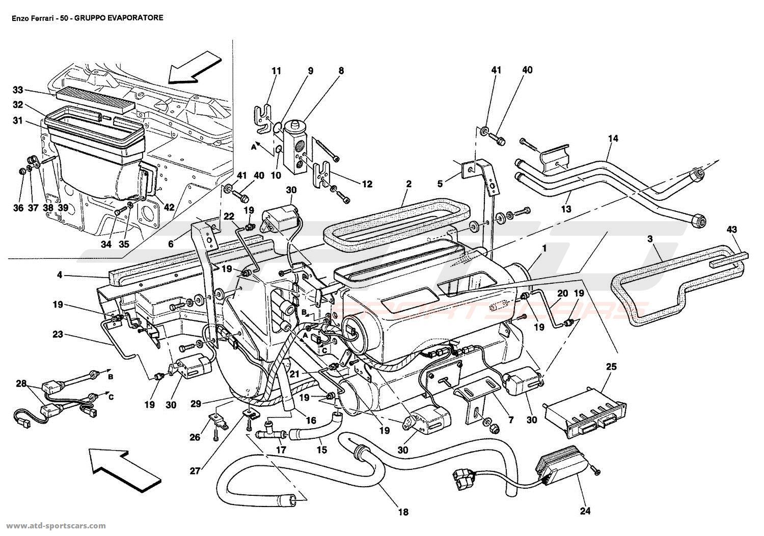 Ferrari Enzo Evaporator Unit Parts At Atd Sportscars