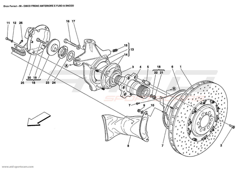 Ferrari Enzo Brakes Parts At Atd Sportscars