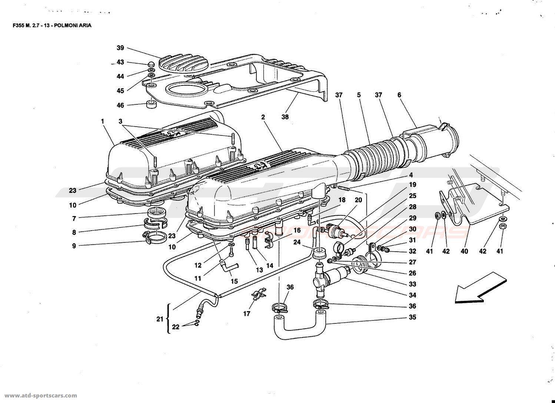 Ferrari F355 2 7 Air Intake