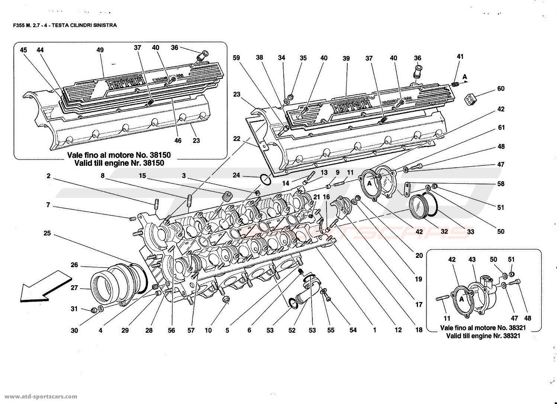 Ferrari F355 2 7 Engine Parts At Atd Sportscars