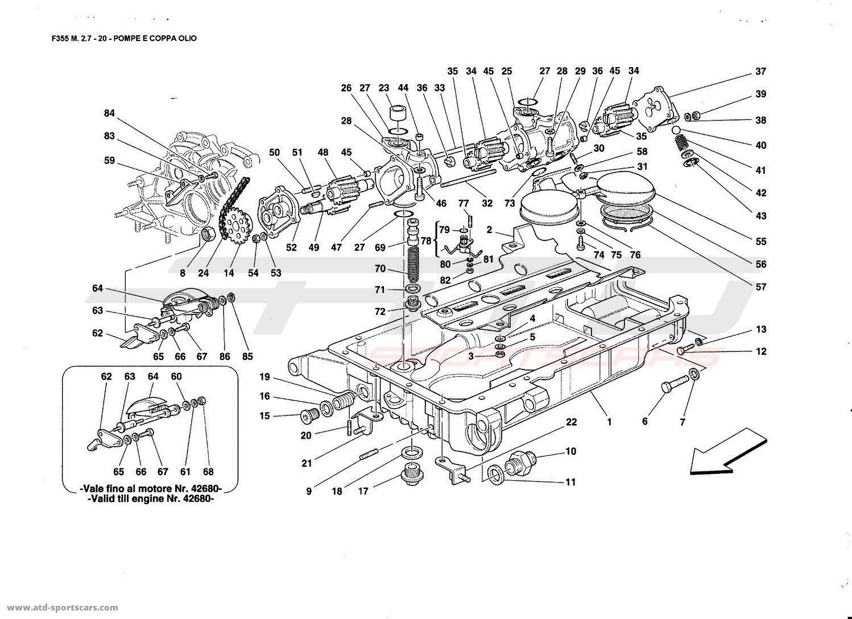Ferrari F355 2 7 Pumps Ano Oil Sump Parts At Atd Sportscars