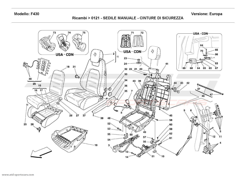 Ferrari F430 Coupe Manual Seat