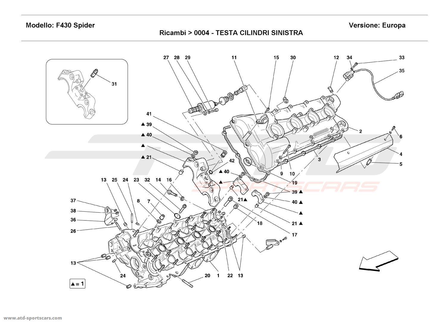 Ferrari F430 Spider Engine Parts At Atd Sportscars