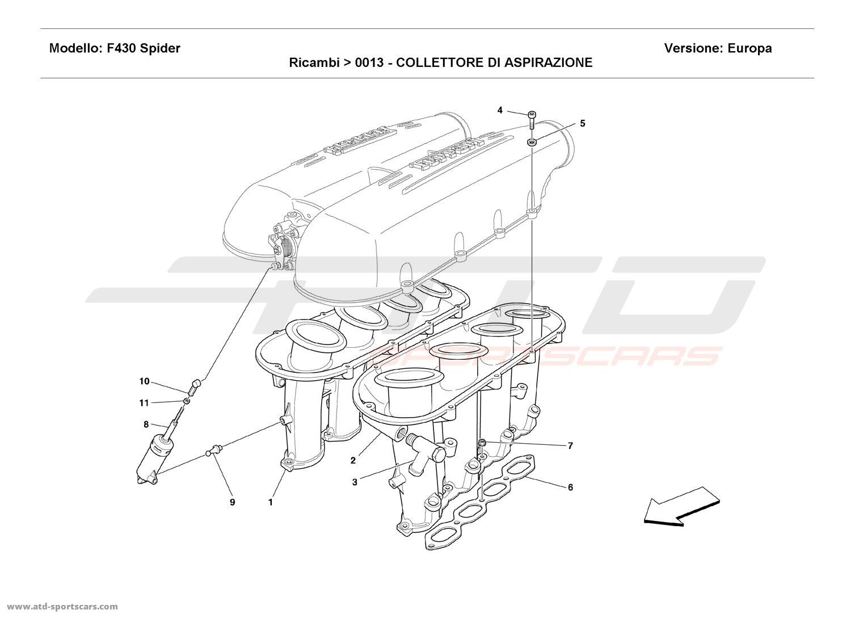 Ferrari F430 Spider Air Intake