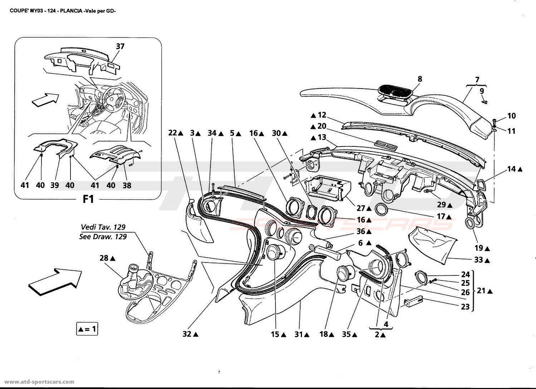 Maserati Gt Coupe Interior Parts At Atd Sportscars