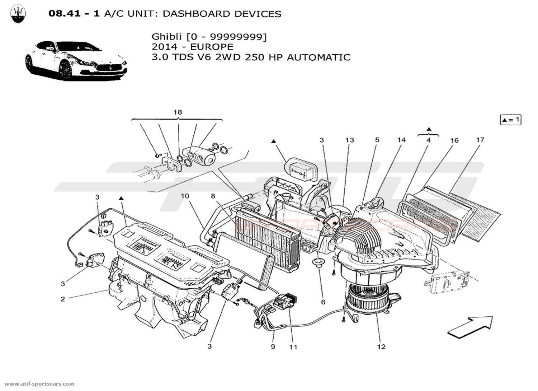 Maserati Ghibli V6 3 0lsel Auto A C Unit