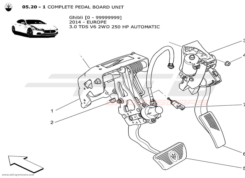 Maserati Ghibli V6 3 0lsel Auto Complete Pedal Board Unit Parts At Atd Sportscars