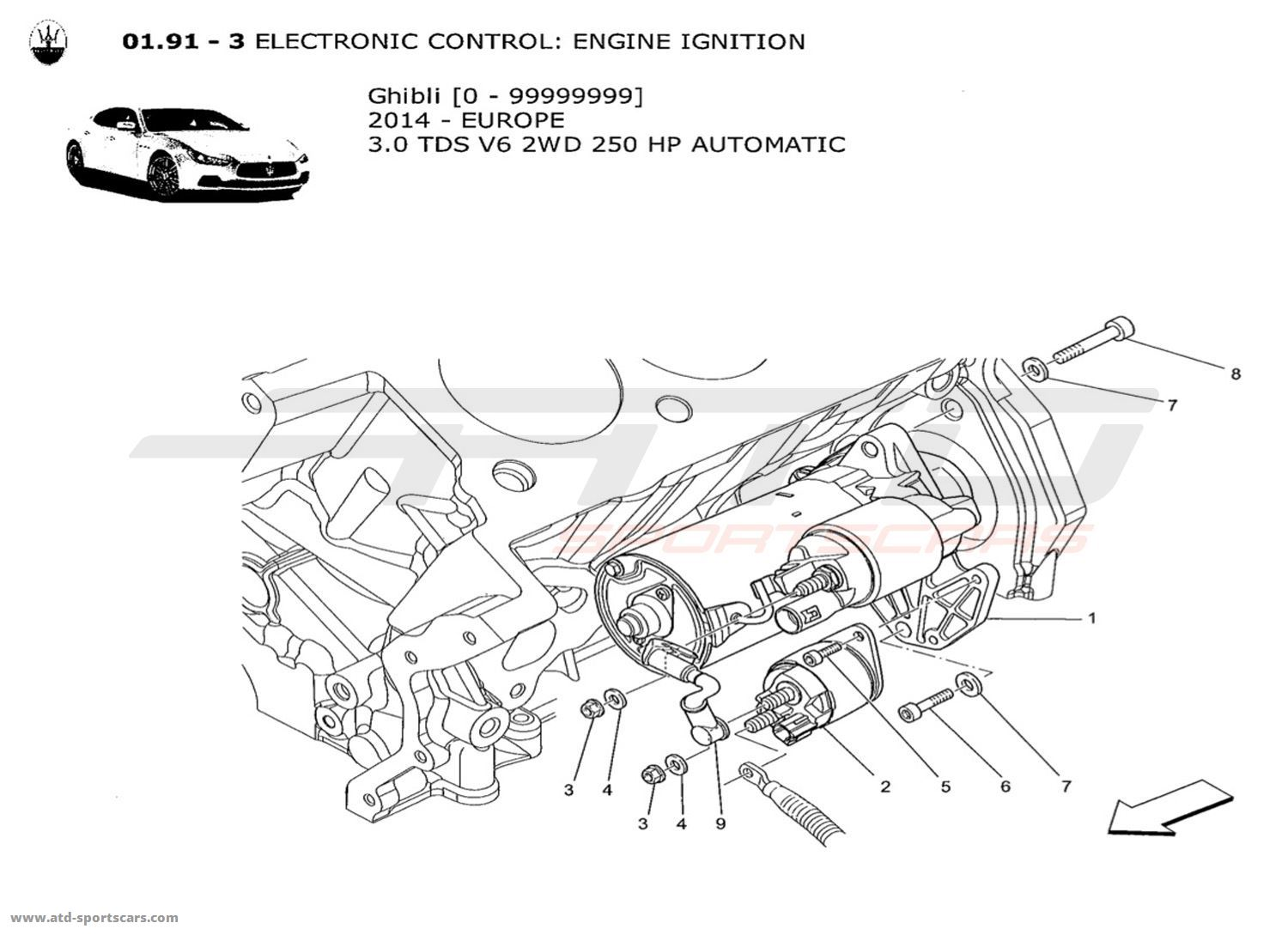 Maserati Ghibli V6 3 0lsel Auto Electronic Control Engine Ignition Si Parts At Atd
