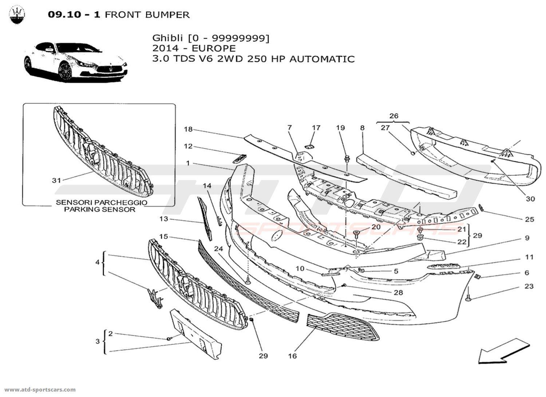 Maserati Ghibli V6 3 0lsel Auto Body Parts At Atd Sportscars