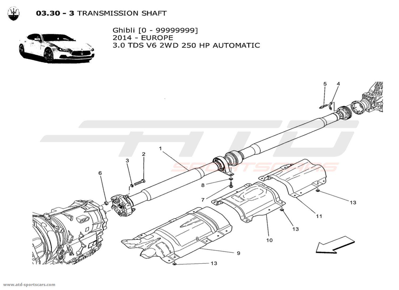 Maserati Ghibli V6 3 0lsel Auto Undercarriage Parts At Atd Sportscars