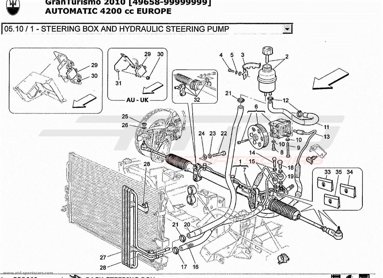 Maserati Granturismo 4 2l Boite Auto Steering Box And Hydraulic Steering Pump Parts At Atd