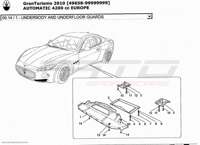 maserati granturismo 4 2l boite auto body parts at