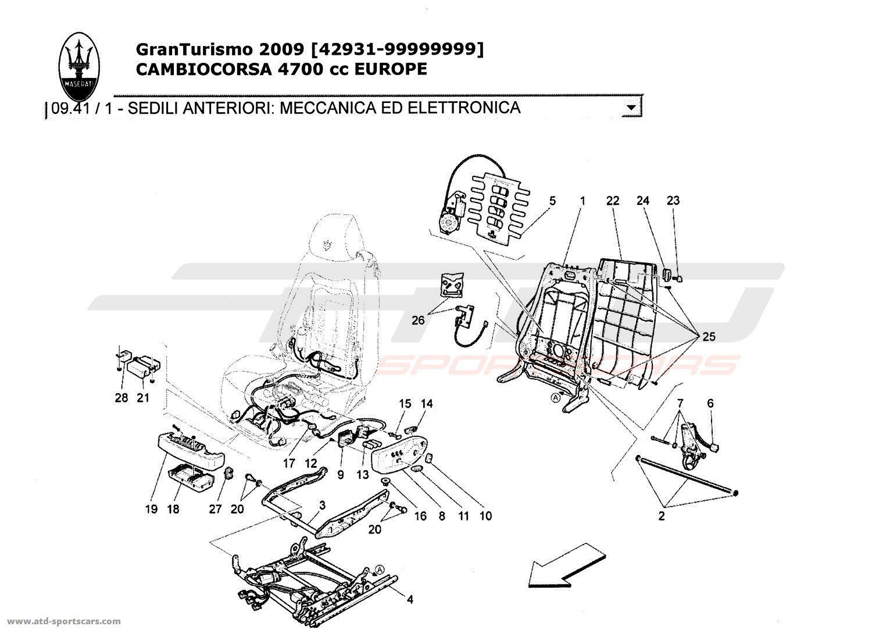 Maserati Granturismo 4 7l Boite F1 Front Seats