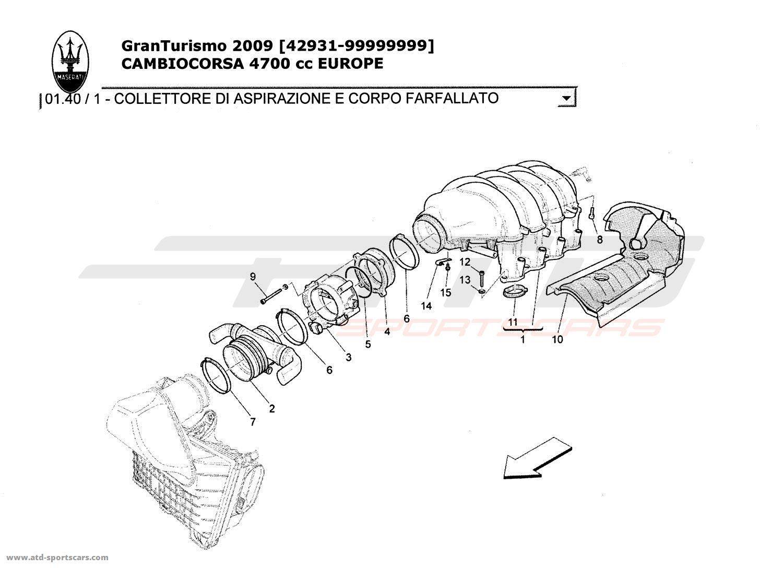 Maserati Granturismo 4 7l Boite F1 Air Intake