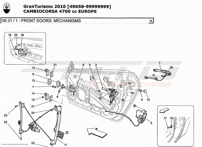 1997 Mitsubishi Spyder Convertible Top Frame Diagram
