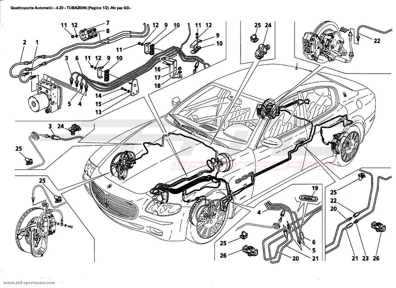 Maserati Quattroporte 4 2l Boite Auto Brakes Parts At Atd Sportscars