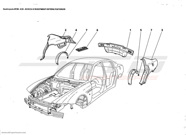 Maserati Quattroporte 4 2l Boite F1 Rear Outer